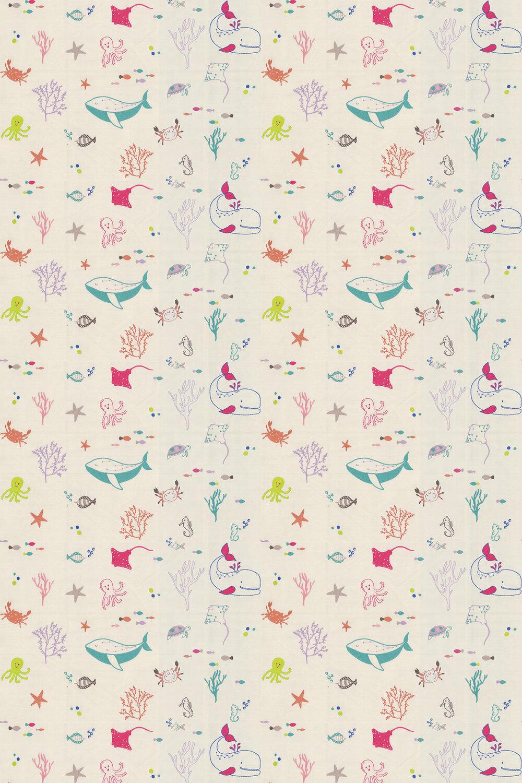 Splash Fabric - Rainbow - by Prestigious