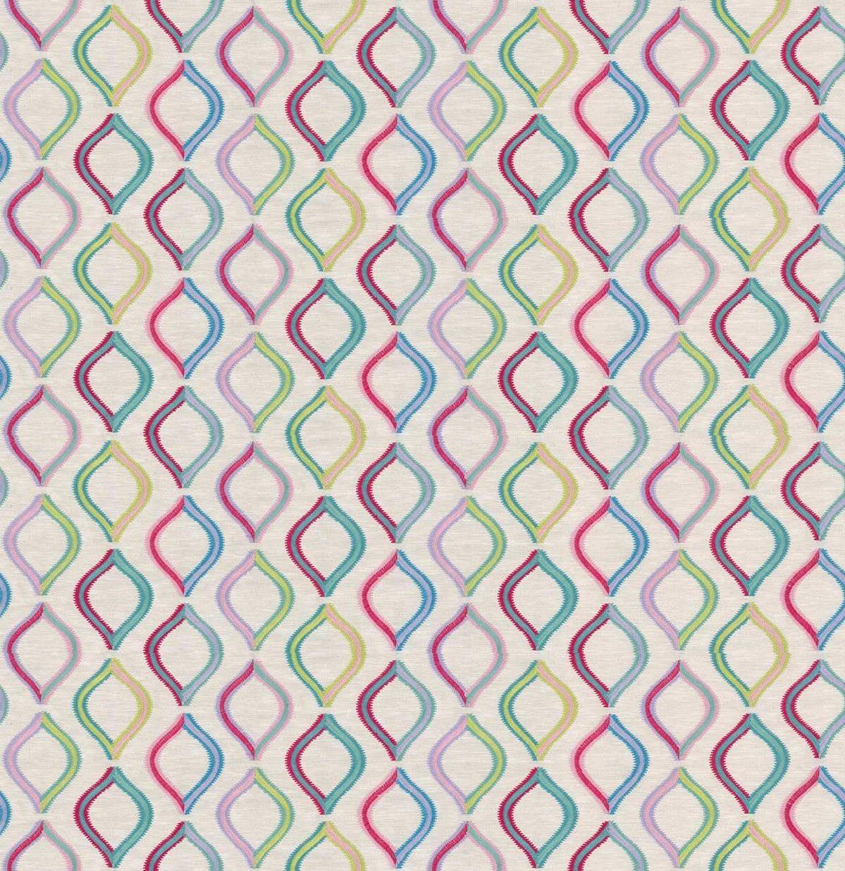 Spinning Top Fabric - Rainbow - by Prestigious