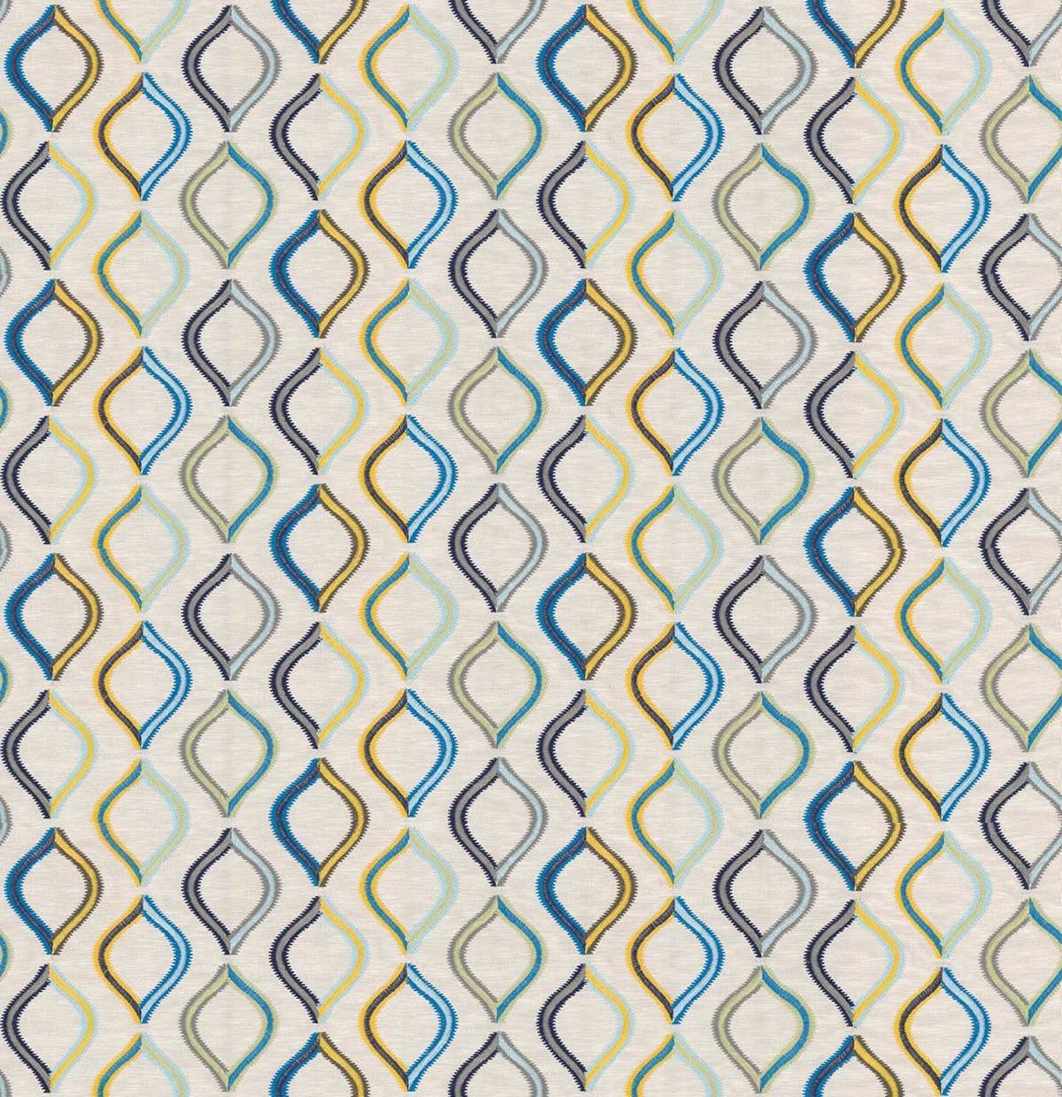 Spinning Top Fabric - Reef - by Prestigious