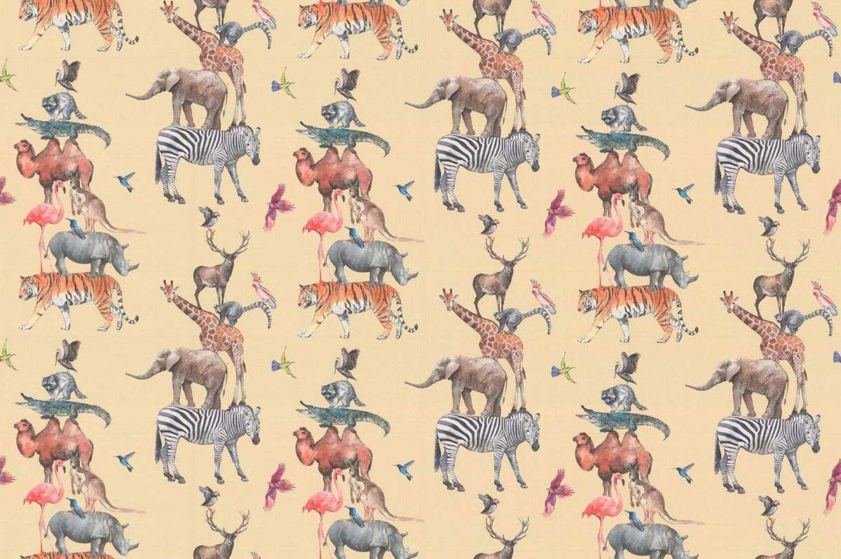 Animal Kingdom Fabric - Candyfloss - by Prestigious