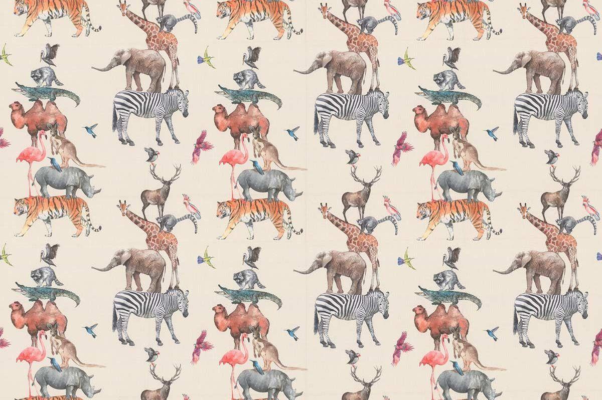 Animal Kingdom Fabric - Rainbow - by Prestigious