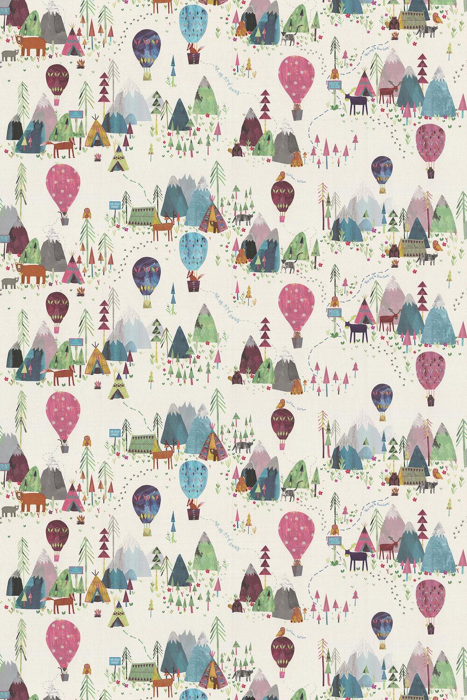 Away We Go Fabric - Candyfloss - by Prestigious
