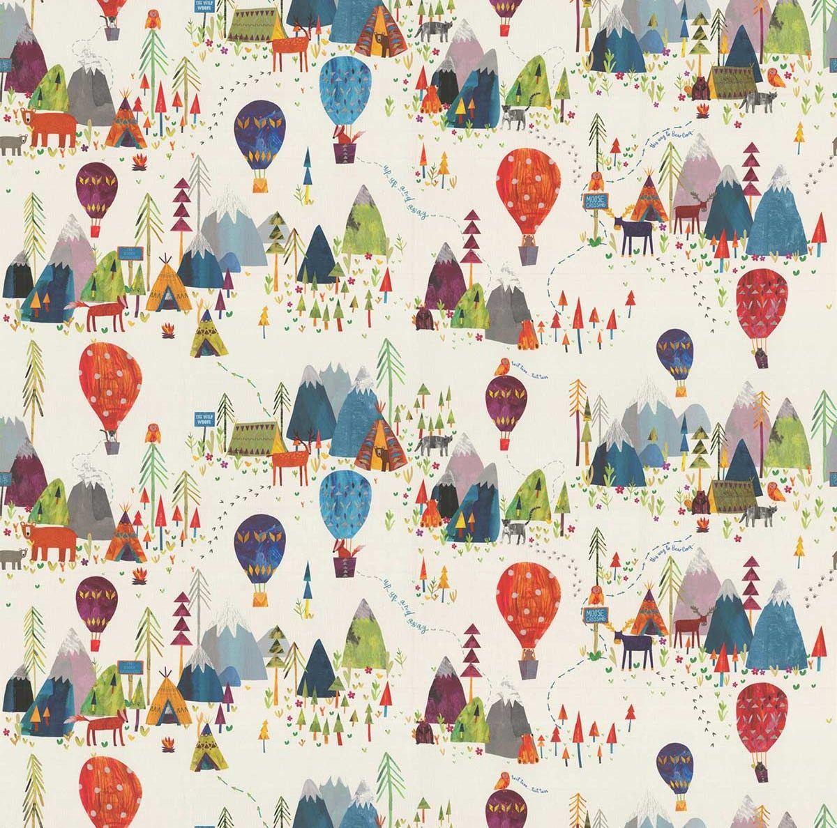 Away We Go Fabric - Jungle - by Prestigious
