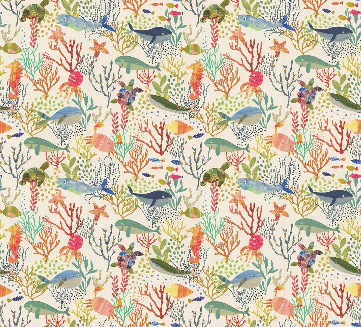 Bubbles Fabric - Jungle - by Prestigious