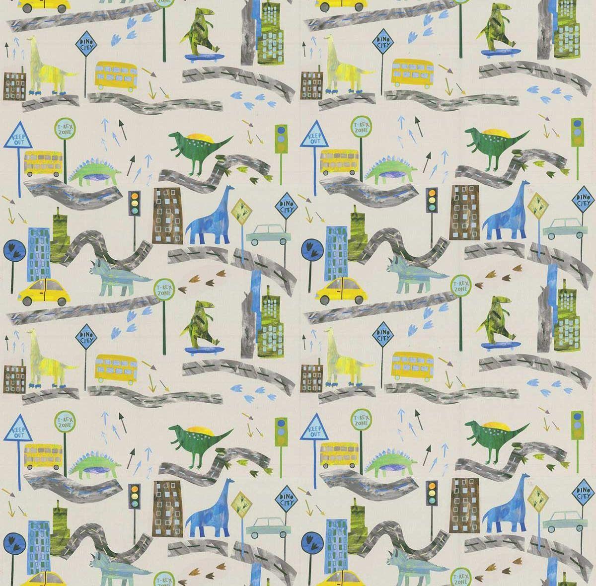 Dino City Fabric - Reef - by Prestigious