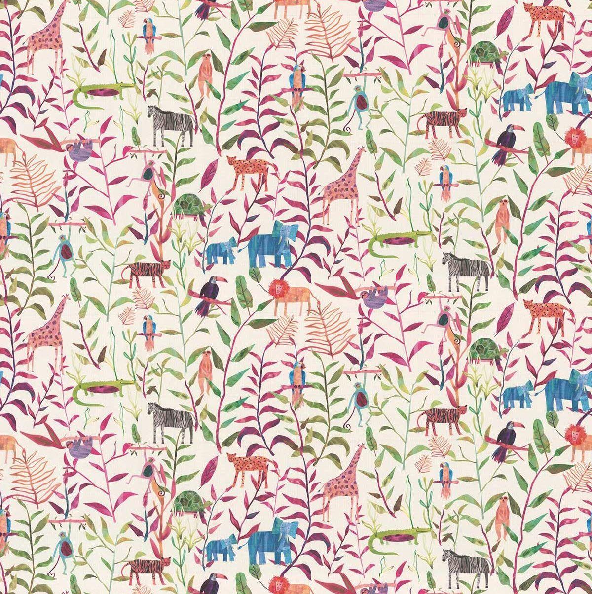 Hide And Seek Fabric - Rainbow - by Prestigious
