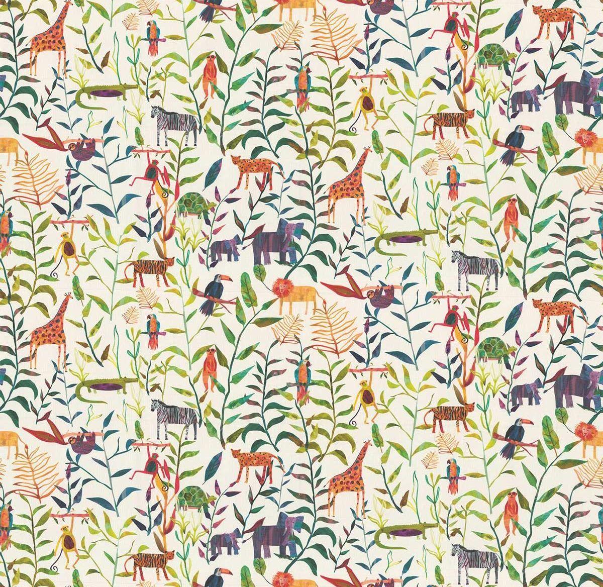 Hide And Seek Fabric - Jungle - by Prestigious