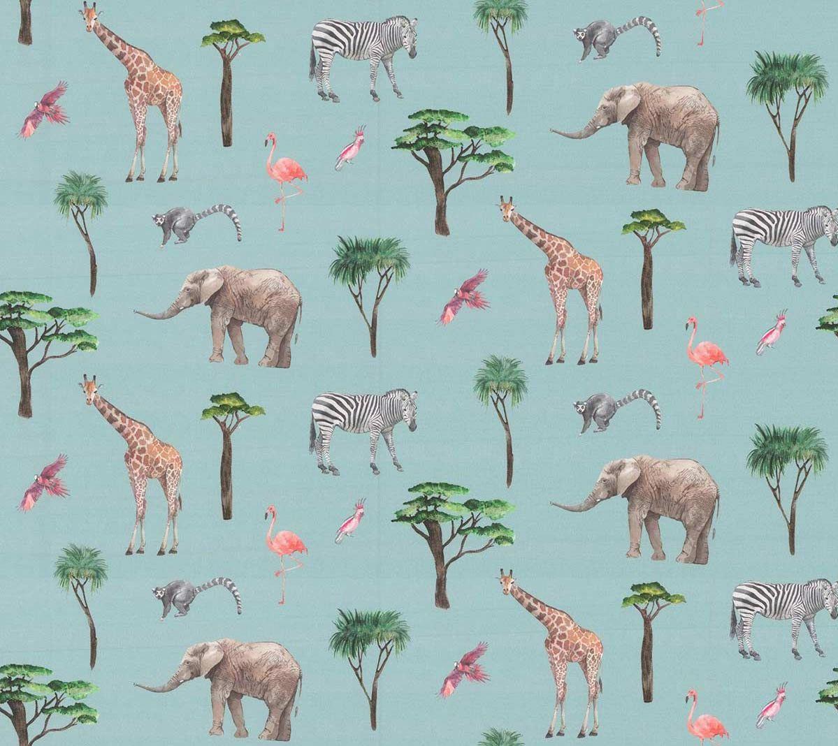 On Safari Fabric - Rainbow - by Prestigious