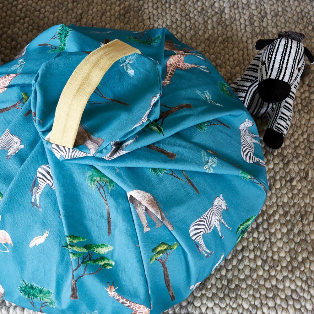 On Safari Fabric - Reef - by Prestigious