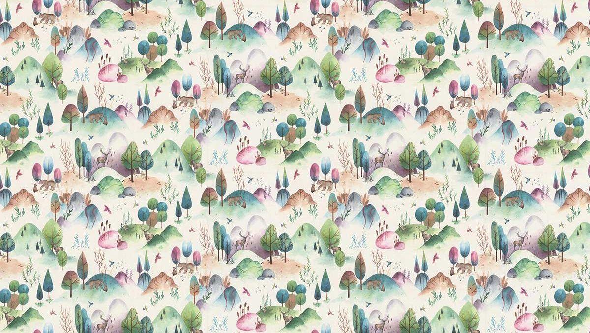 Woodland Walk Fabric - Candyfloss - by Prestigious