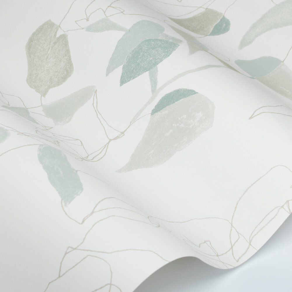 Liana Wallpaper - Teal - by Villa Nova