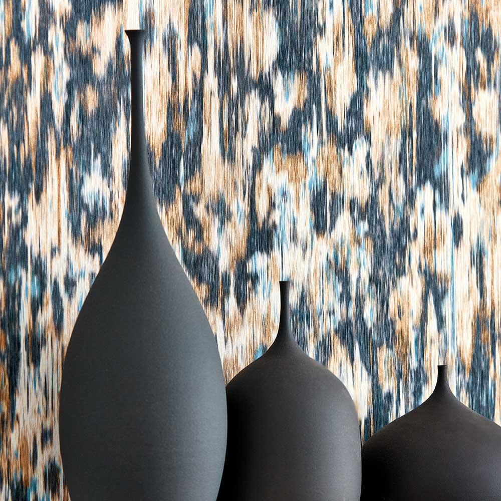 Fade Wallpaper - Ink / Bronze - by Harlequin
