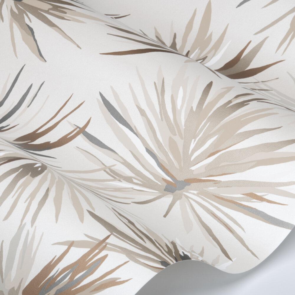 Aucuba Wallpaper - Bronze / Sediment / Pearl - by Harlequin