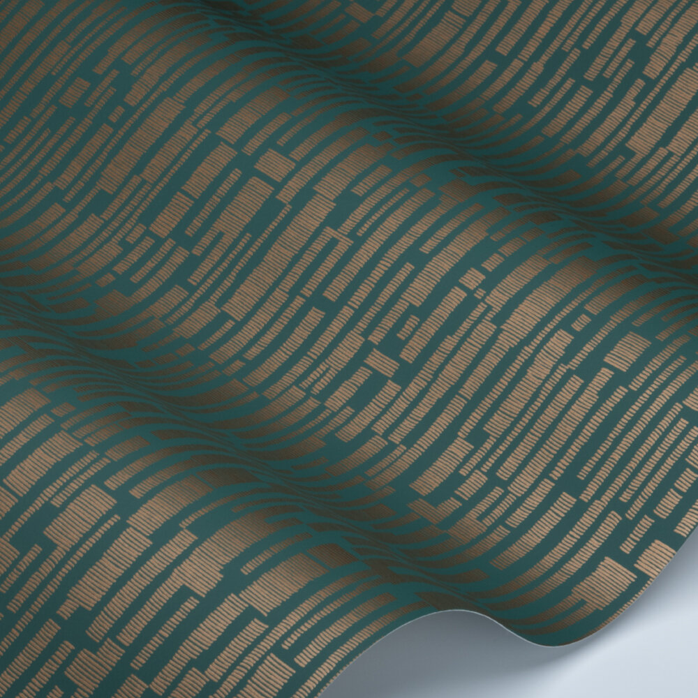 Series Wallpaper - Forest / Copper - by Harlequin