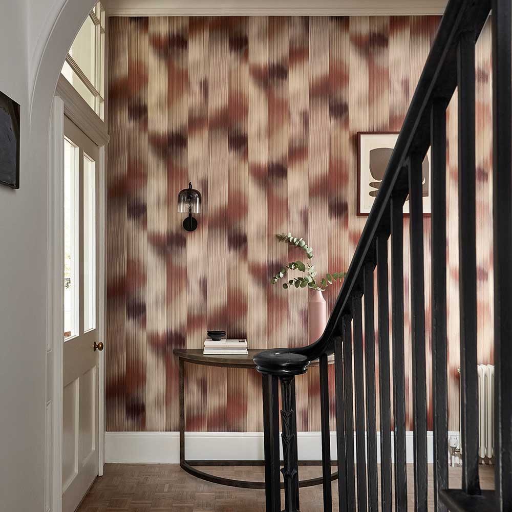 Oscillation Wallpaper - Rosewood / Fig - by Harlequin
