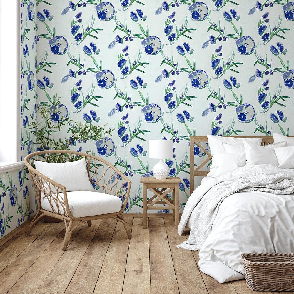 Bodegón Wallpaper - Blue - by Coordonne