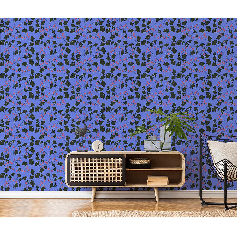 Furoshiki Wallpaper - Indigo - by Coordonne