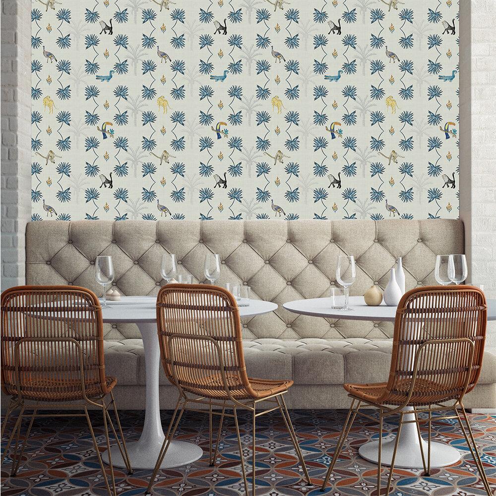 Monteverde Wallpaper - Blue - by Coordonne