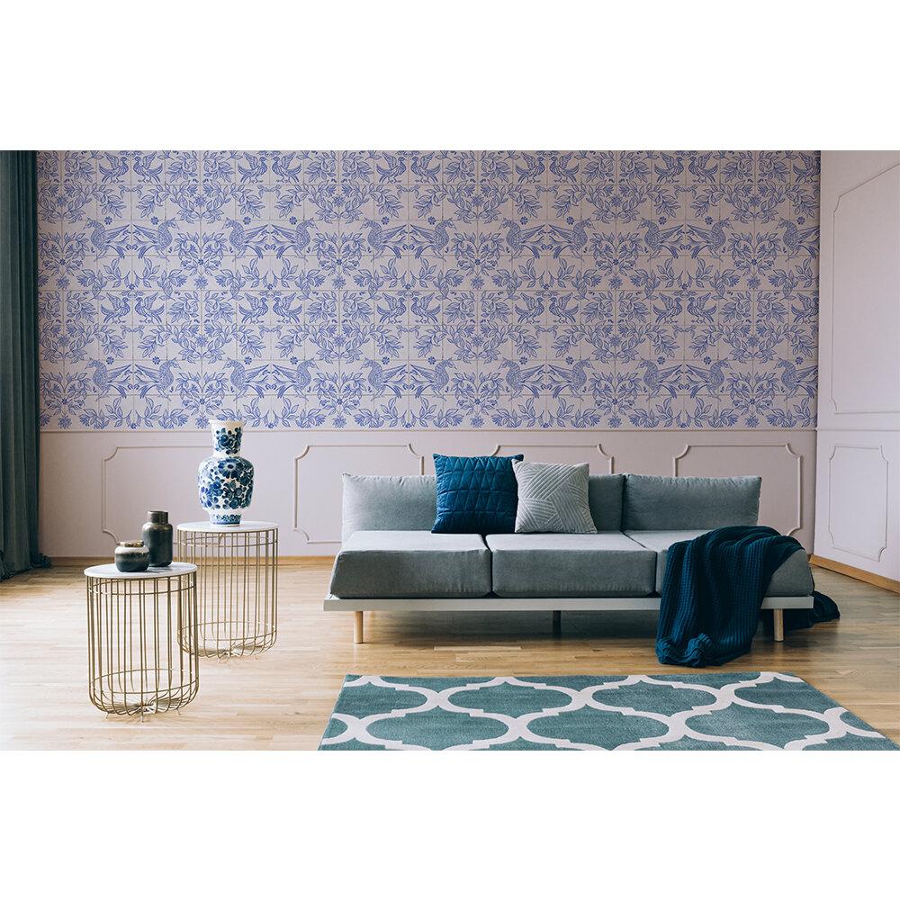 Cerâmica Wallpaper - Blue - by Coordonne
