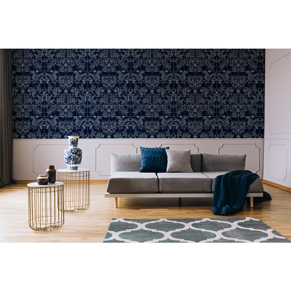 Cerâmica Wallpaper - Navy - by Coordonne