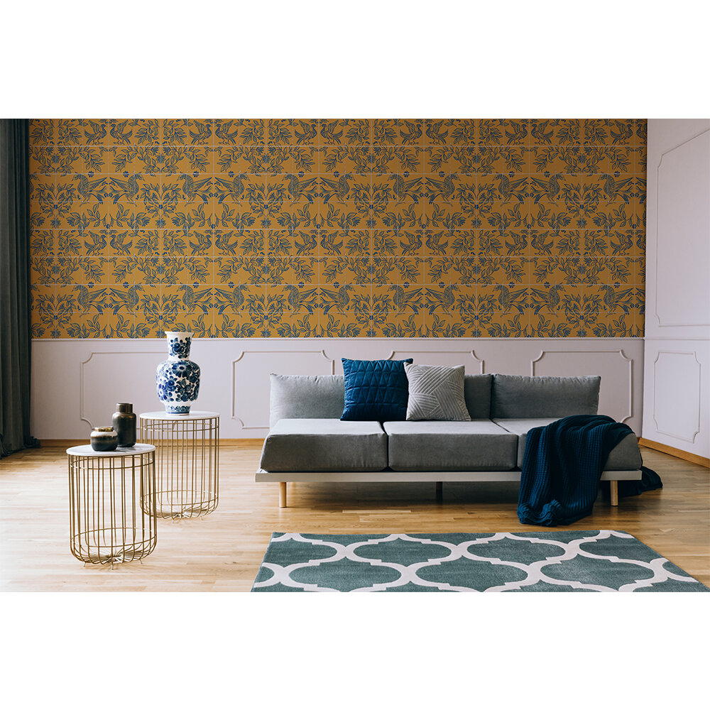 Cerâmica Wallpaper - Mustard - by Coordonne