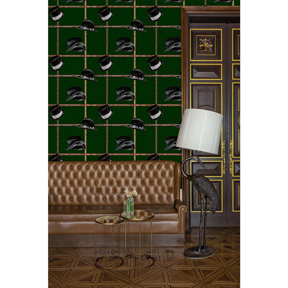 Ascot Wallpaper - Green - by Coordonne