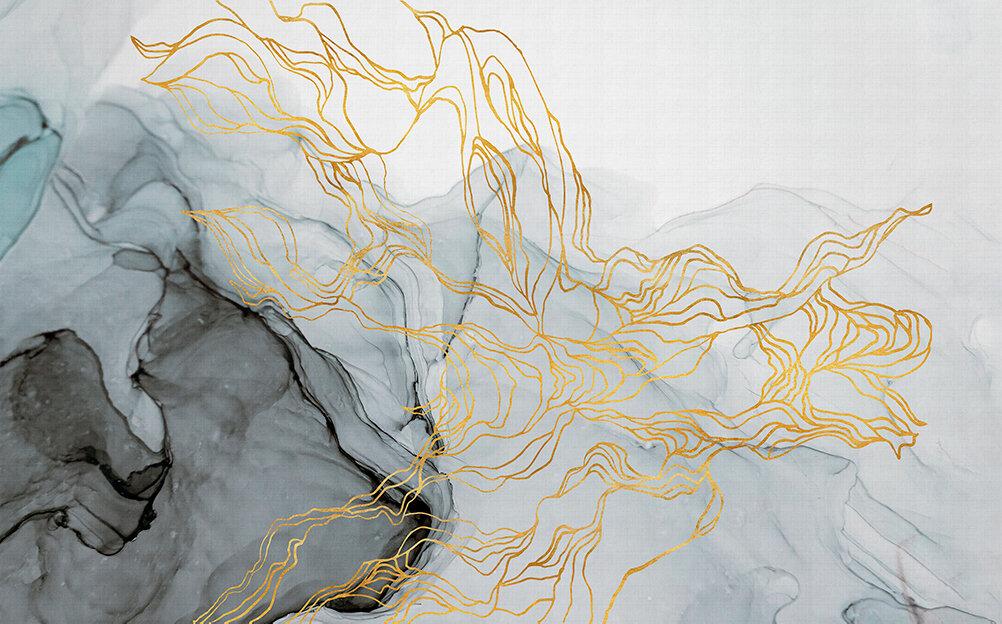 Aurora Borealis Mural - Metallic - by Coordonne