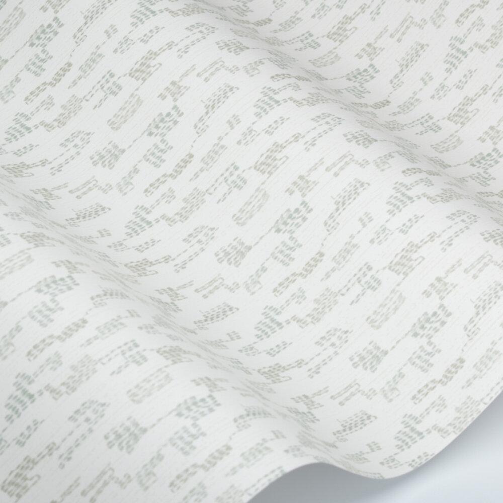 Broderie Wallpaper - Lichen - by Villa Nova