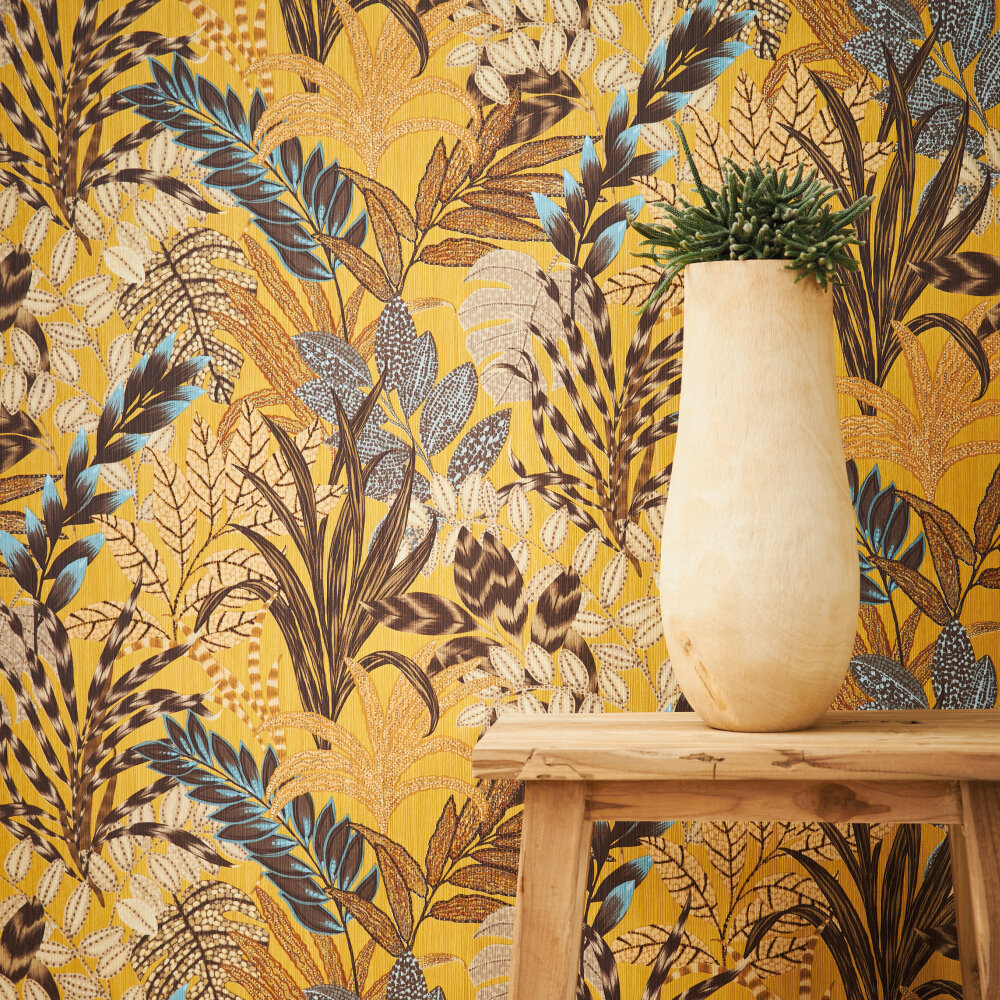 Tropicana Wallpaper - Ochre - by Metropolitan Stories