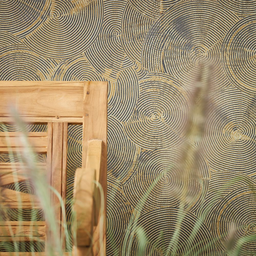 Skimmed Wallpaper - Bronze - by Metropolitan Stories