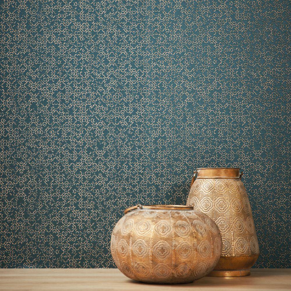 Ornate Wallpaper - Navy - by Metropolitan Stories