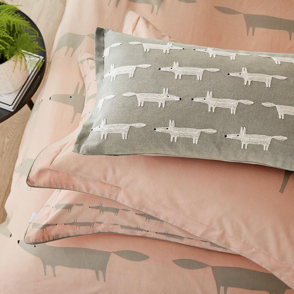 Mr Fox Cushion - Grey - by Scion