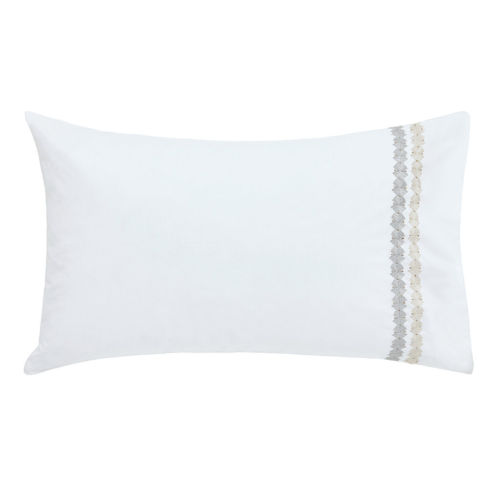 Ananda Standard Pillowcase Pair - Slate and Stone - by Harlequin