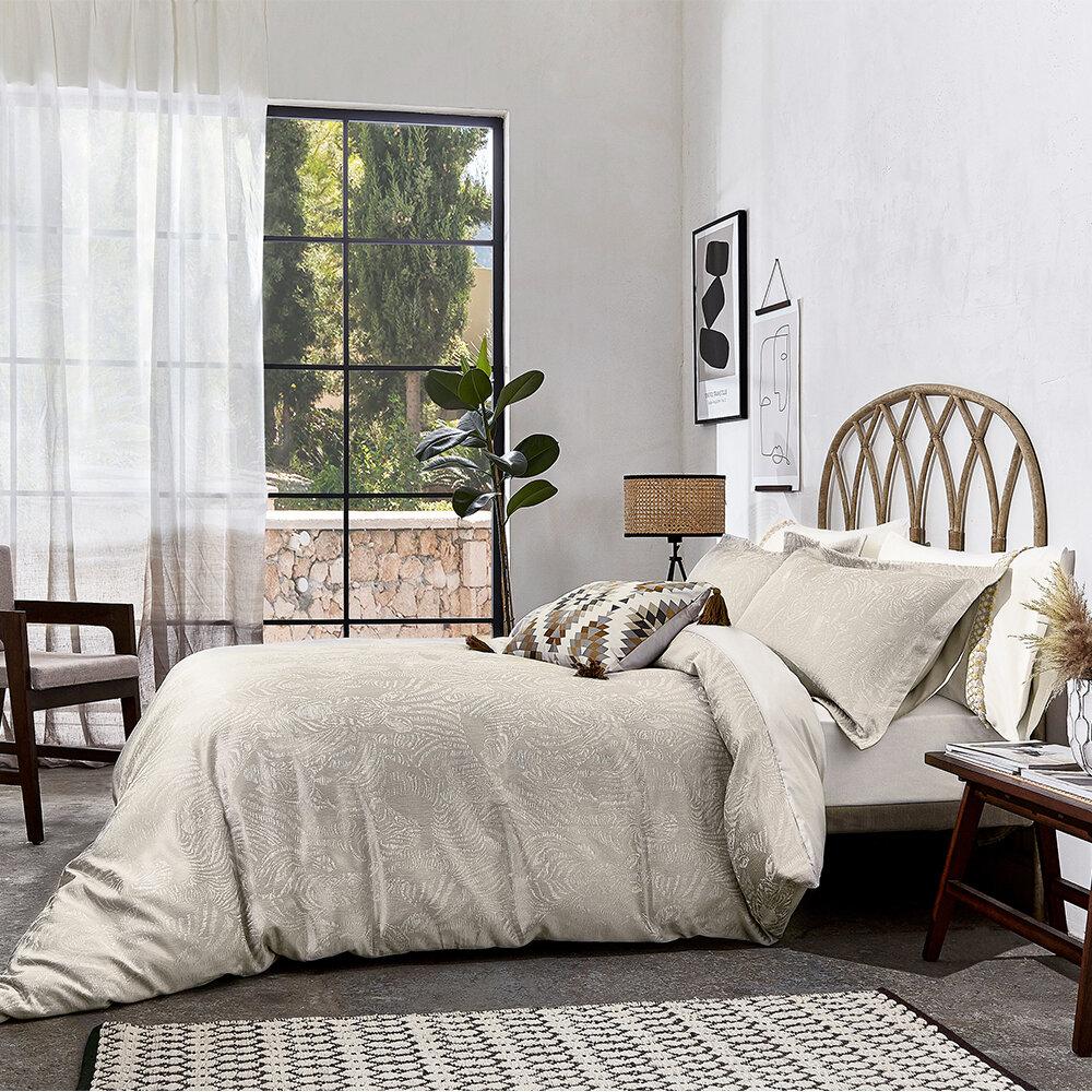 Nirmala Oxford Pillowcase - Pebble - by Harlequin