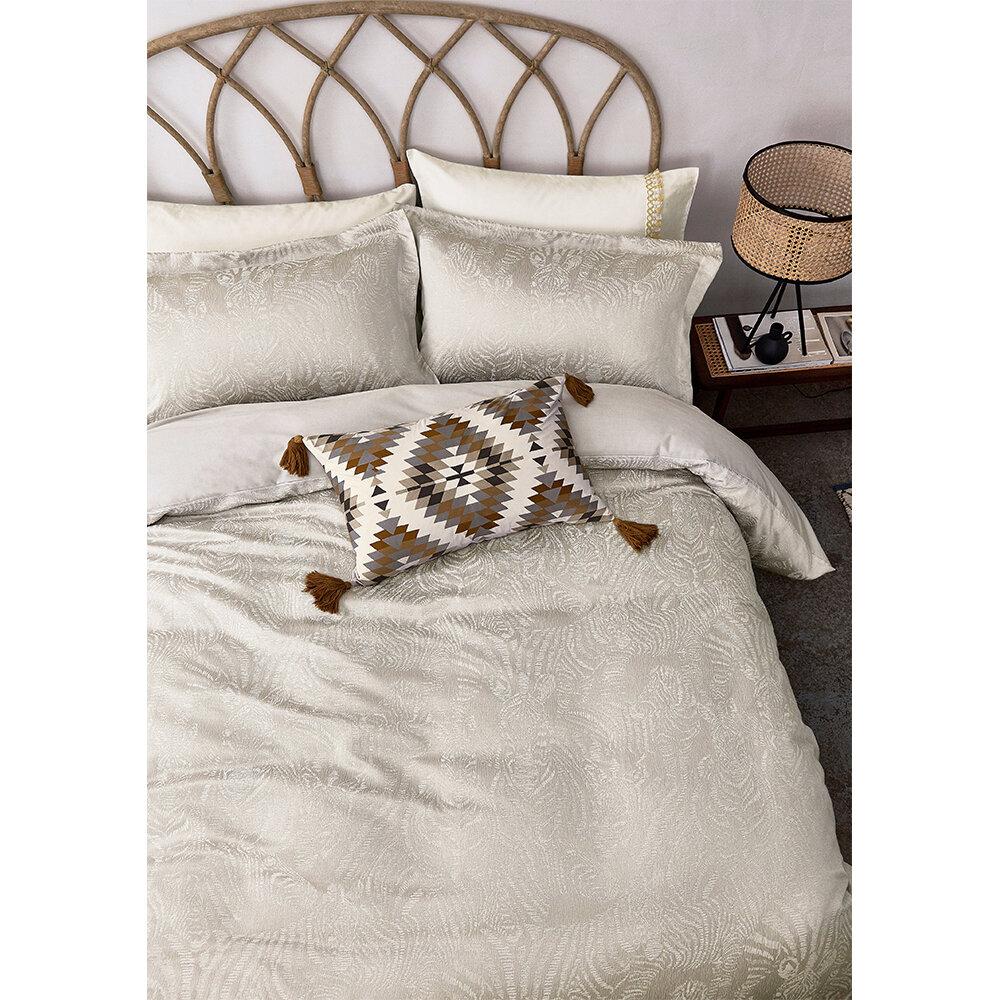 Nirmala Standard Pillowcase Pair - Pebble - by Harlequin