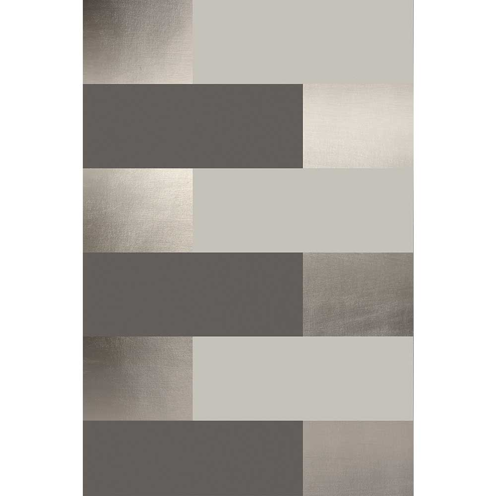 Block  Wallpaper - Bronze / Limestone / Cocoa Brown - by Erica Wakerly