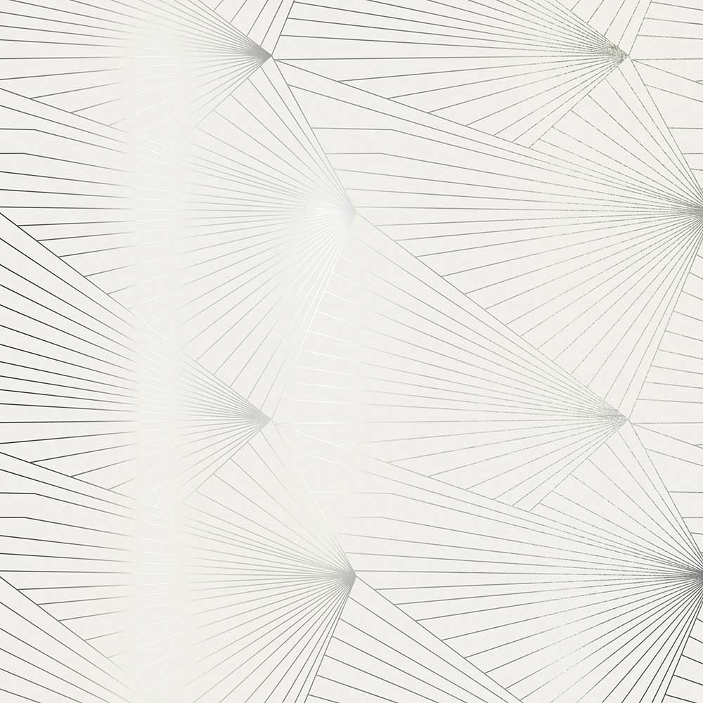Fan Wallpaper - Pewter / White Stone - by Erica Wakerly