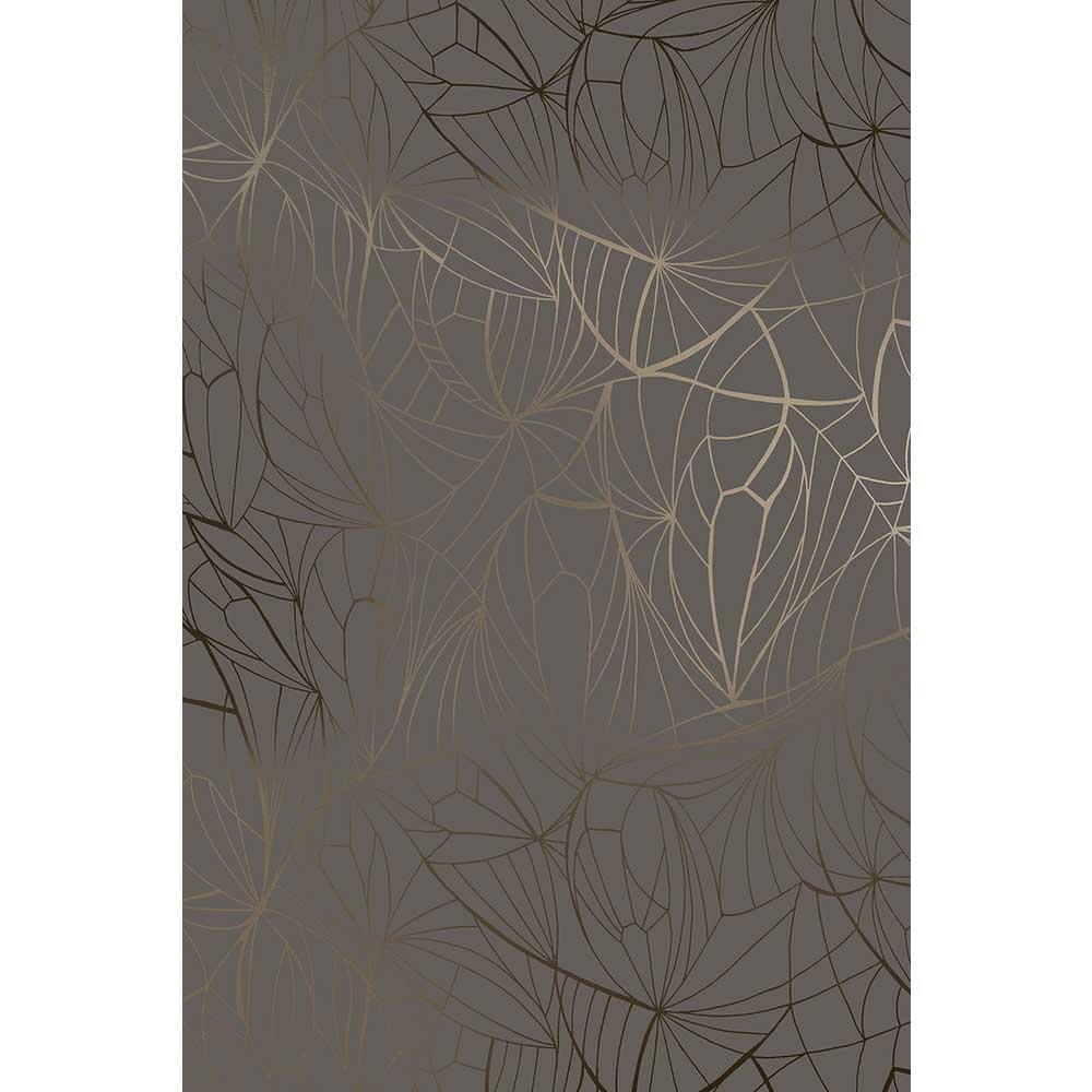 Leaf Wallpaper - Bronze / Cocoa Brown - by Erica Wakerly