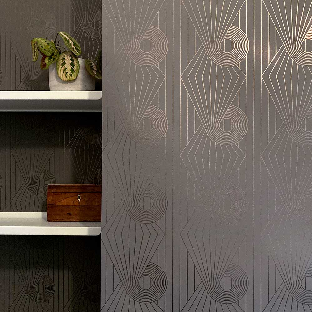 Mini Spiral Wallpaper - Bronze / Cocoa Brown - by Erica Wakerly