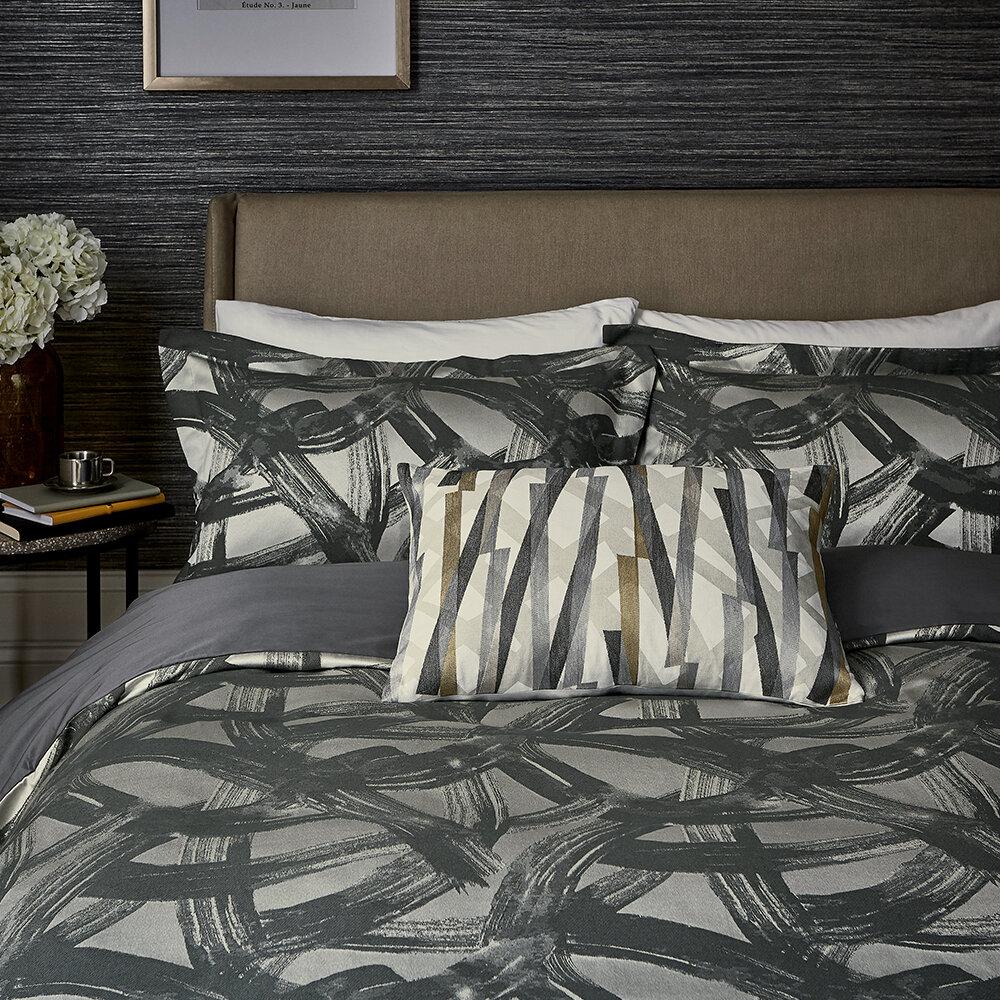 Typhonic Cushion - Platinum & Citrus - by Harlequin