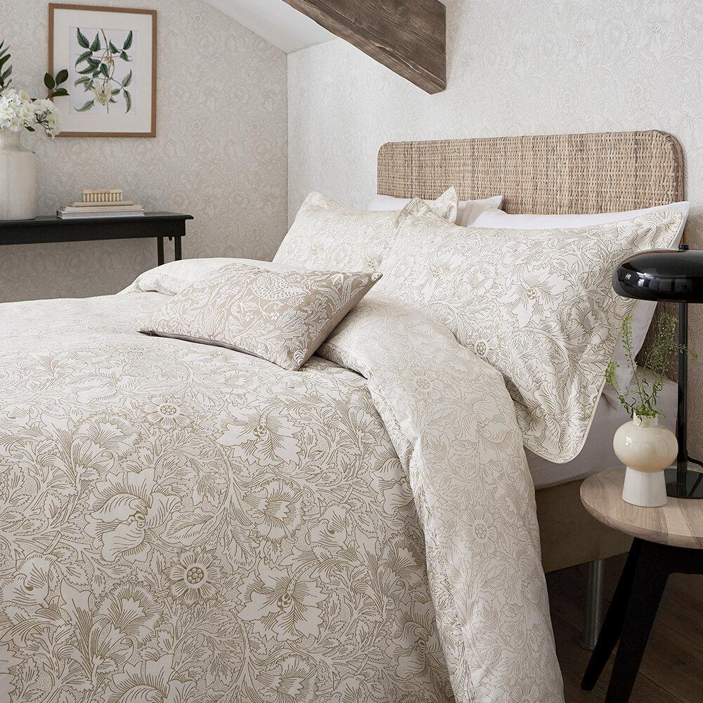 Pure Poppy Oxford Pillowcase - Ecru - by Morris