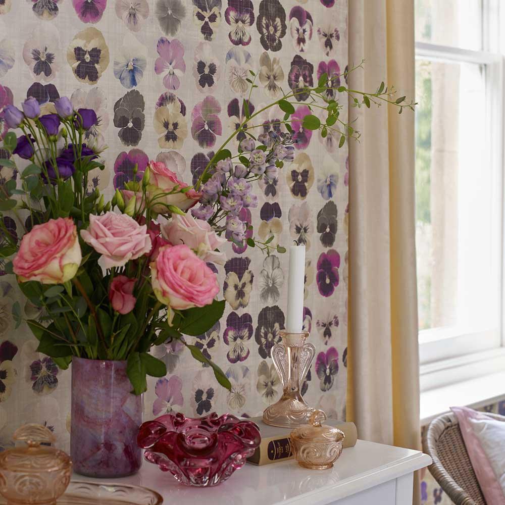 Gertrude Wallpaper - Electric Pink - by Elizabeth Ockford