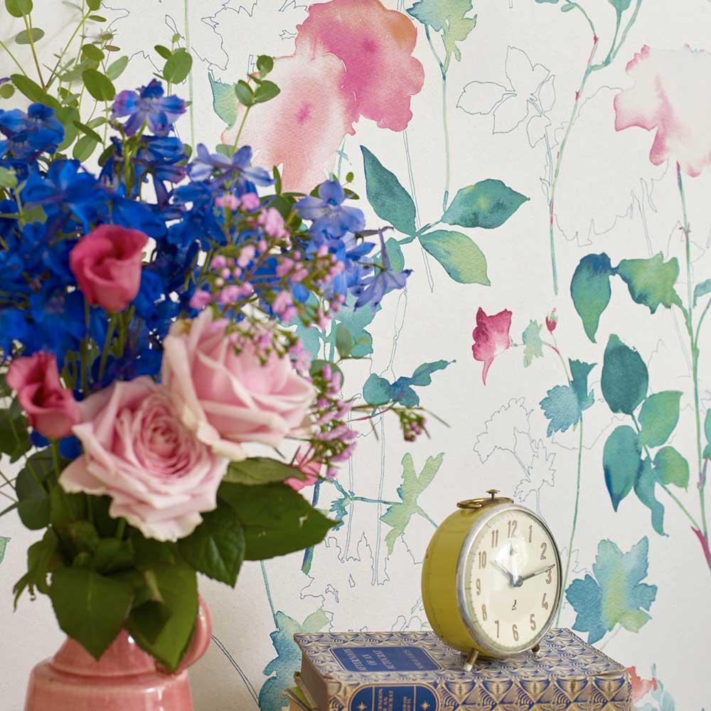 Eleanor Wallpaper - Emerald - by Elizabeth Ockford