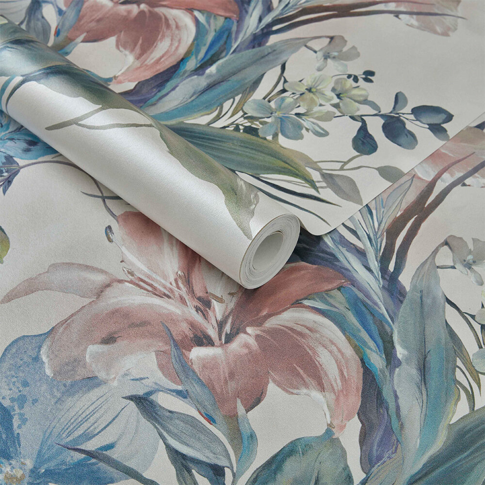 Lilliana Wallpaper - Cream - by 1838 Wallcoverings