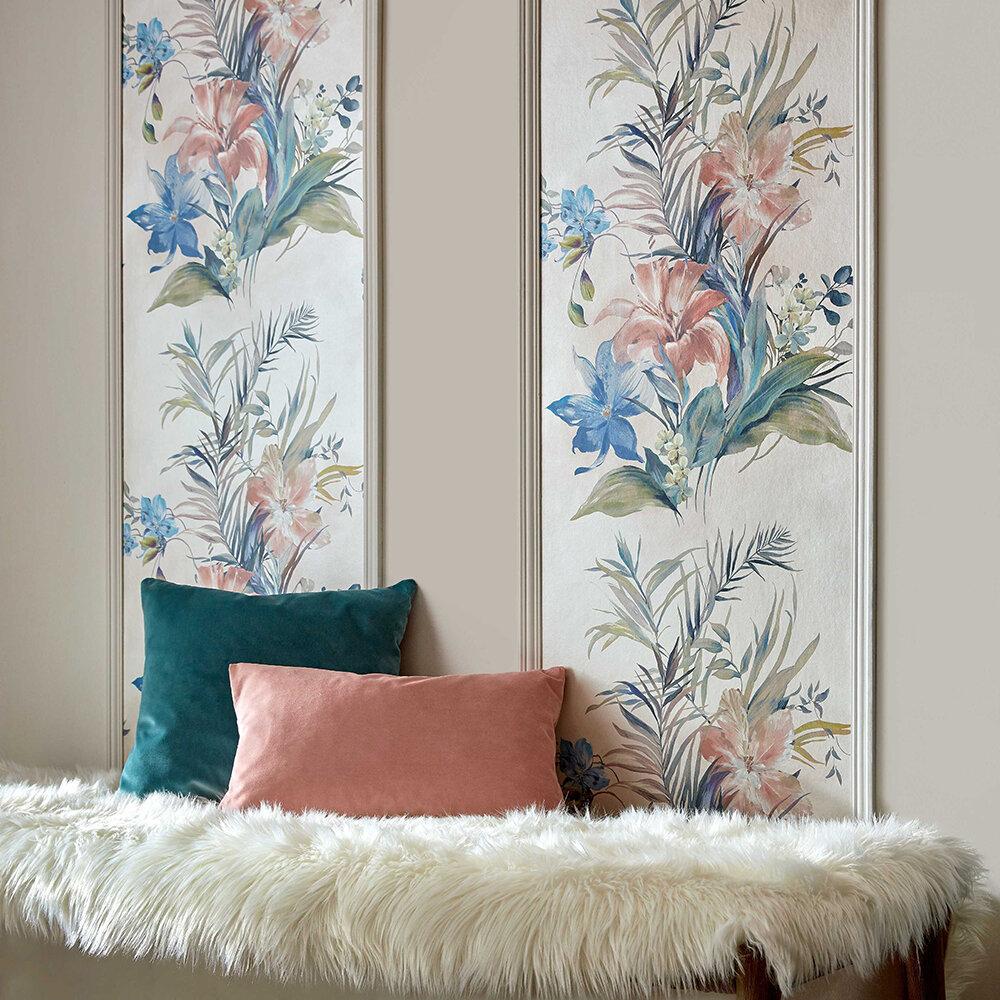 Lilliana Wallpaper - Cream - by 1838 Wallcoverings