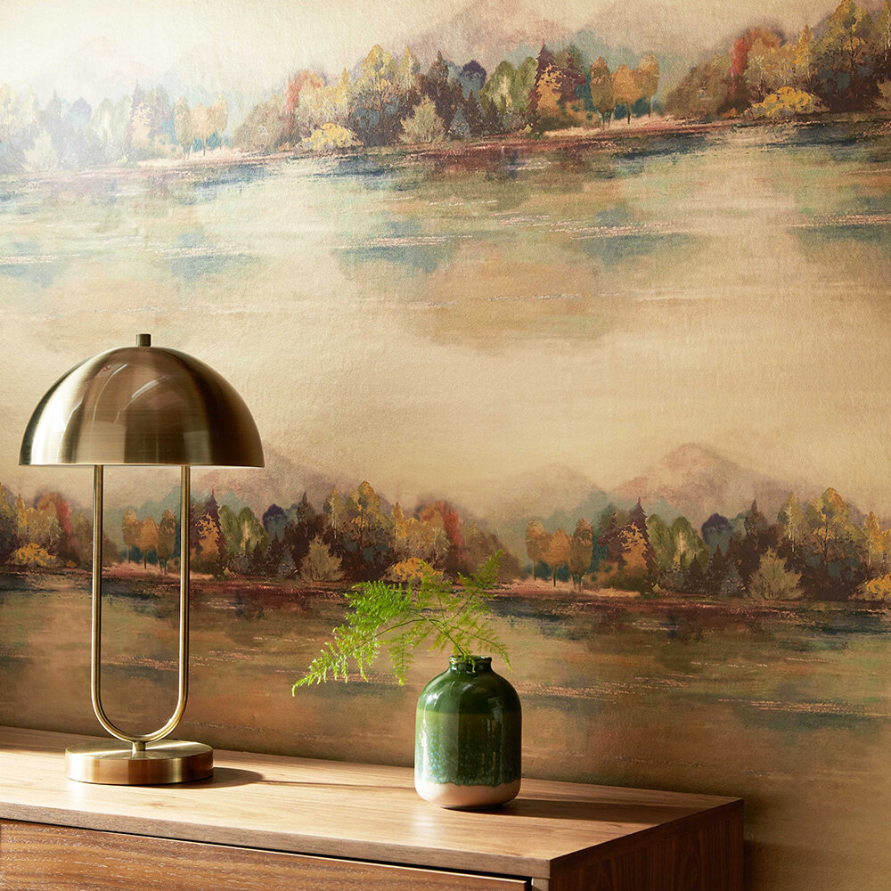 Lakeside Wallpaper - Autumn Gold - by 1838 Wallcoverings