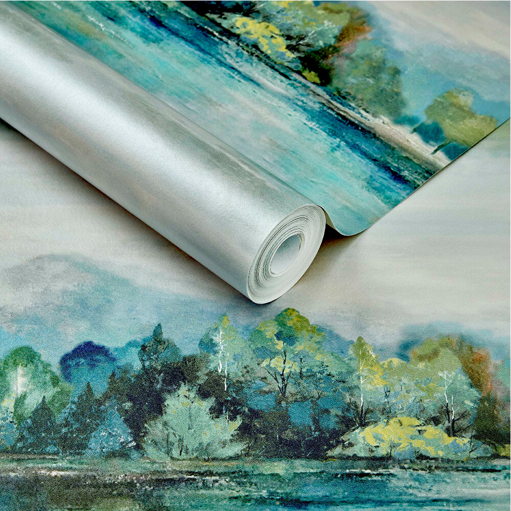 Lakeside Wallpaper - Fern Green - by 1838 Wallcoverings