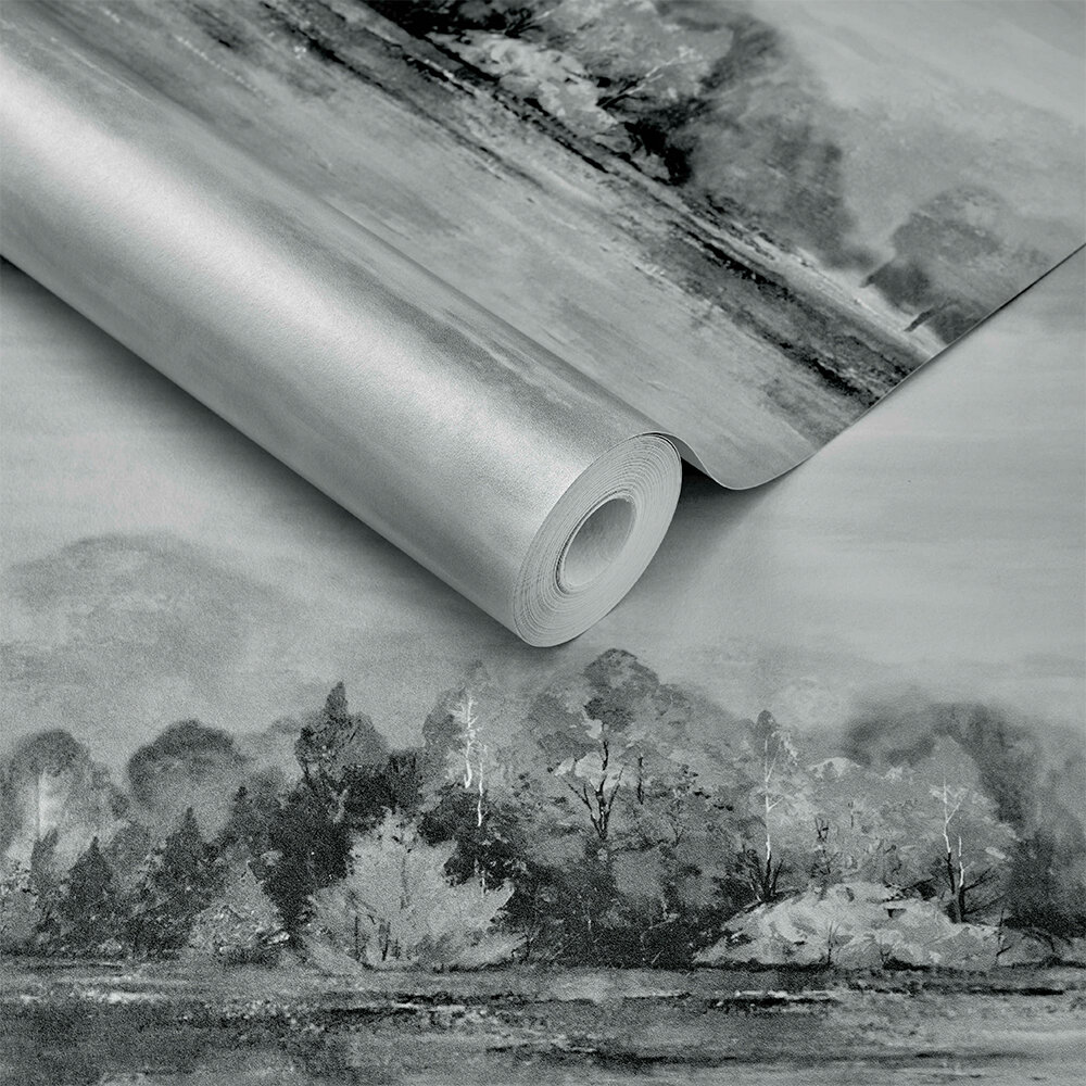 Lakeside Wallpaper - Pewter Grey - by 1838 Wallcoverings