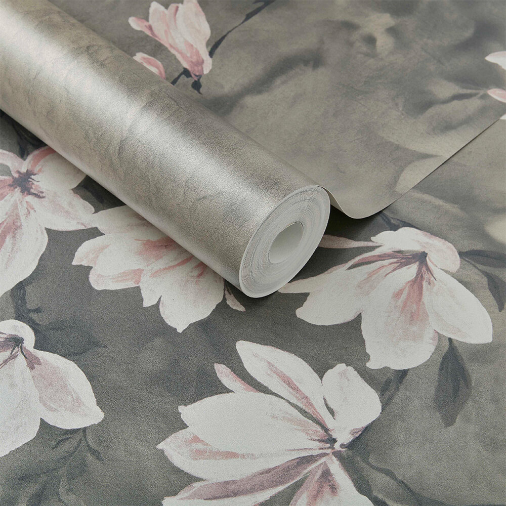 Trailing Magnolia Mural - Burnished Gold - by 1838 Wallcoverings