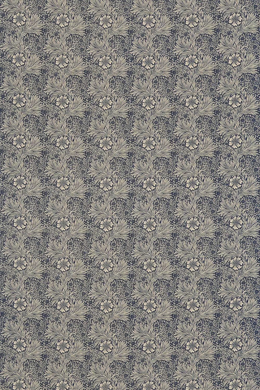 Marigold Fabric - Indigo / Linen - by Morris